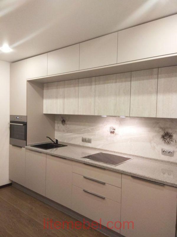 Кухня с фасадами Акрил/Пластик, Проект № 1679